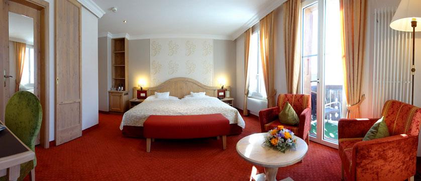 Romantik Hotel Schweizerhof, Grindelwald, Bernese Oberland, Switzerland - double bedroom with a balcony.jpg